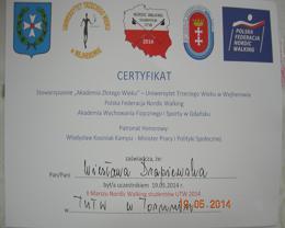 Marsz certyfikat