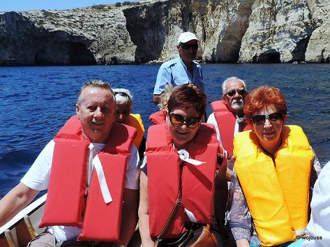 Malta-Bł groty zwiedzanie łódkami